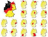 Deutschland provinces maps — Stock Vector