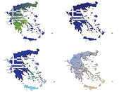 Greece maps — Stock Vector