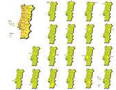 Portugal provinces maps — Stock Vector