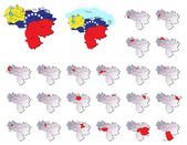 Venezuela provinces maps — Stock Vector