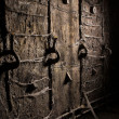 Old grunge metal wall — Stock Photo