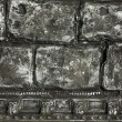 Black old bricks background — Stock Photo