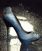 Blue High Heel Shoes — Stock Photo