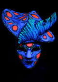 Ultraviolet mask and headwear — Stock Photo