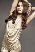 Brunette model  posing in studio — Stock Photo