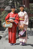 Traditional Asian Women in Kimono — Stock Photo