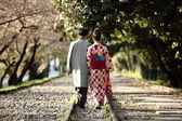 Traditional Japanese Couple — Stock Photo
