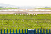 Demarcation of an Airport Runway Area — Stock Photo