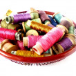 Basket with thread — Stock Photo