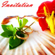 Stock Photo: Wedding invitation