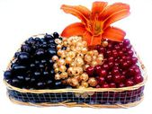 Basket with berries — Stock Photo