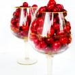 Stock Photo: Cherries in glasses