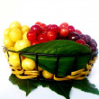 Stock Photo: Basket of cherries
