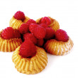 Raspberry biscuits — Stock Photo