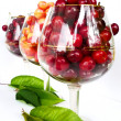 Cherries in glasses — Stock Photo
