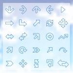 25 Arrows icons set — Stock Vector #49506989