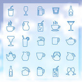 25 drinks icons set — Stock Vector