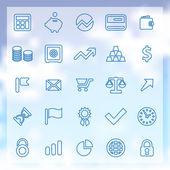 25 finance icons set — Stock Vector