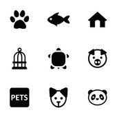 Pets icons 9 icons set — Vector de stock