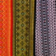 Pattern of thai hand made fabric background — Stock Photo