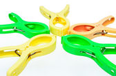 Colorful clothespin — Stock Photo