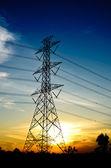 High voltage post — Stockfoto