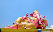 Big pink Ganesha in relax pose, Thailand — Stock Photo