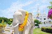 Temple of Wat Asokaram, Samut Prakan, Thailand — Stock Photo