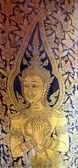 Door painting at Wat Po, Thailand  — Stock Photo