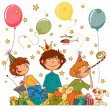 Boy's party — Stock Vector