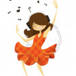 Dance — Stock Vector