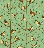 Singing birds — Stock Vector