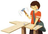 Woodworker — Stock Vector