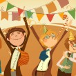 Cheerful corporate party.  — Imagen vectorial