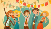 Cheerful corporate party. — Stock Vector