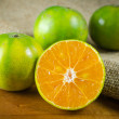 Mandarin orange,Tangerines fruit — Stock Photo