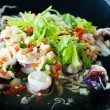 Stok fotoğraf: Thai spicy squid salad
