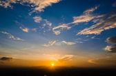 закат и голубое небо — Стоковое фото