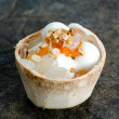 Coconut ice cream in Coconut shell. — Stockfoto