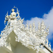 Stock Photo: Famous white church in Wat Rong Khun, Chiang Rai province, north