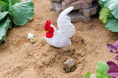 Statue of chickens — Stock Photo