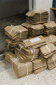 堆栈的棕色信封 — 图库照片