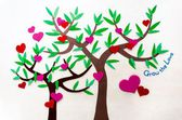 Love tree, heart tree — Stock Photo