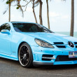 Stock Photo: Tuned car benz kompressor
