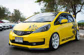 Tuned car Honda jazz — Stock Photo