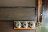 Antique Electric switches — Stock Photo