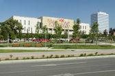 Budynek muzeum narodowego skanderbeg placu, tirana, albania — Zdjęcie stockowe