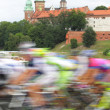 Stock Photo: Poland, Krakow, bike race