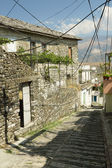 Albania, Narrow Street in Gjirokaster — Stock Photo