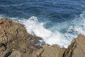 Spain, Galicia, La Coruna, Ocean Waves Breaking — Stockfoto